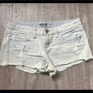 Pin striped Denim Cut-offs | Size 7 (Juniors)